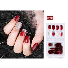 24/30 шт поддельные ногти с клеем пресс на ногти кончики для ногтей с желе двухсторонняя лента естественное наращивание ногтей(Китай)