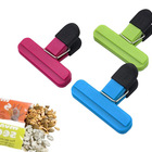 Length 15cm 7.5cm ABS with TPR handle food storage bag plastic clip