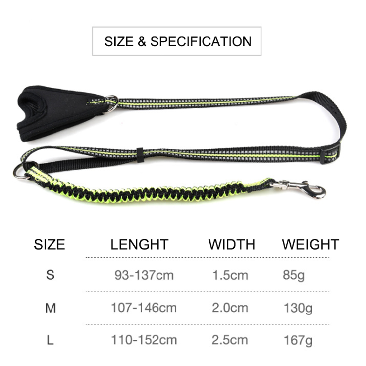 Custom Nylon Spandex Pets Leashes Comfortable Wrist Dog Chains Reflective Elastic Leash Small Size Pets Sets