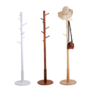 Wholesale wooden coat tree rack hanger stand for clothes hat bags