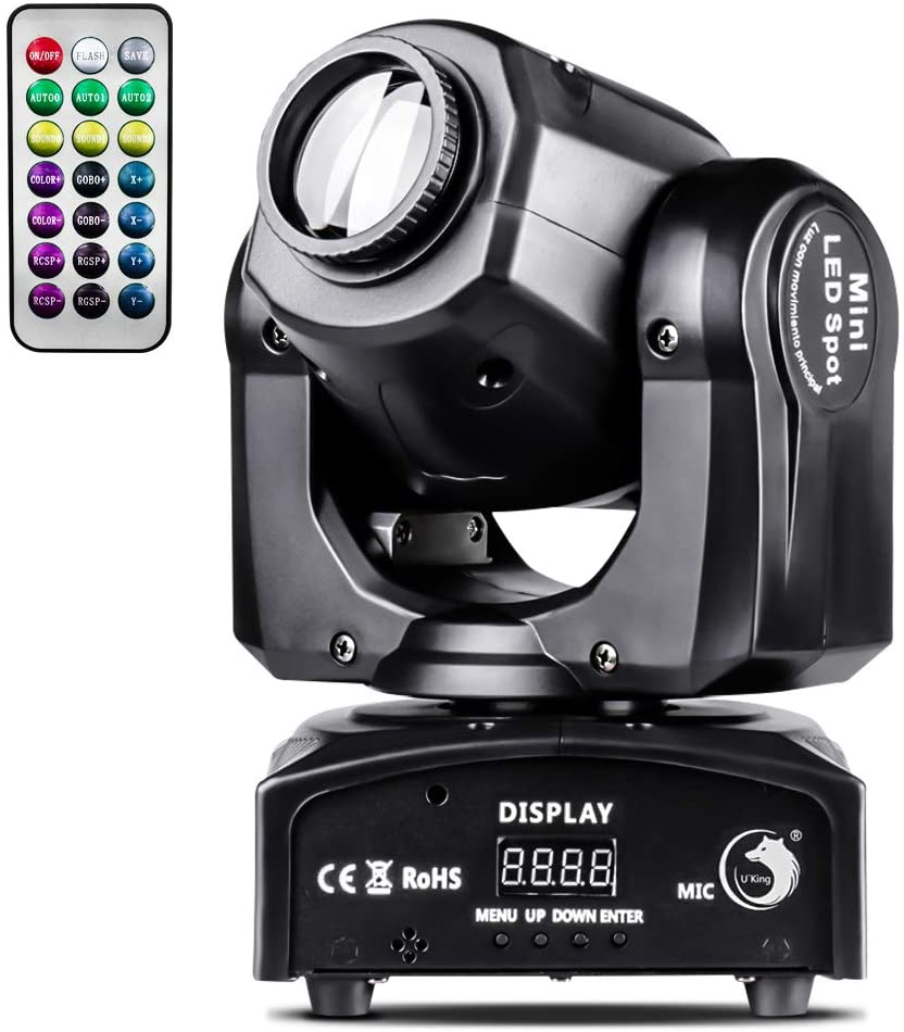 U`King 50W Disco Moving Head Light with Functional Remote LED Moving Head Stage Lights