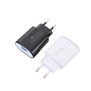 EU US plug mobile phone wall QC 3.0 quick charger 5V 3.0A USB fast charger travel adapter for Iphone Samsung Huawei