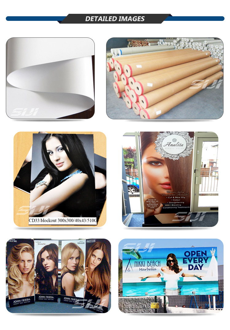 PVC coated blackout banner flex printing material