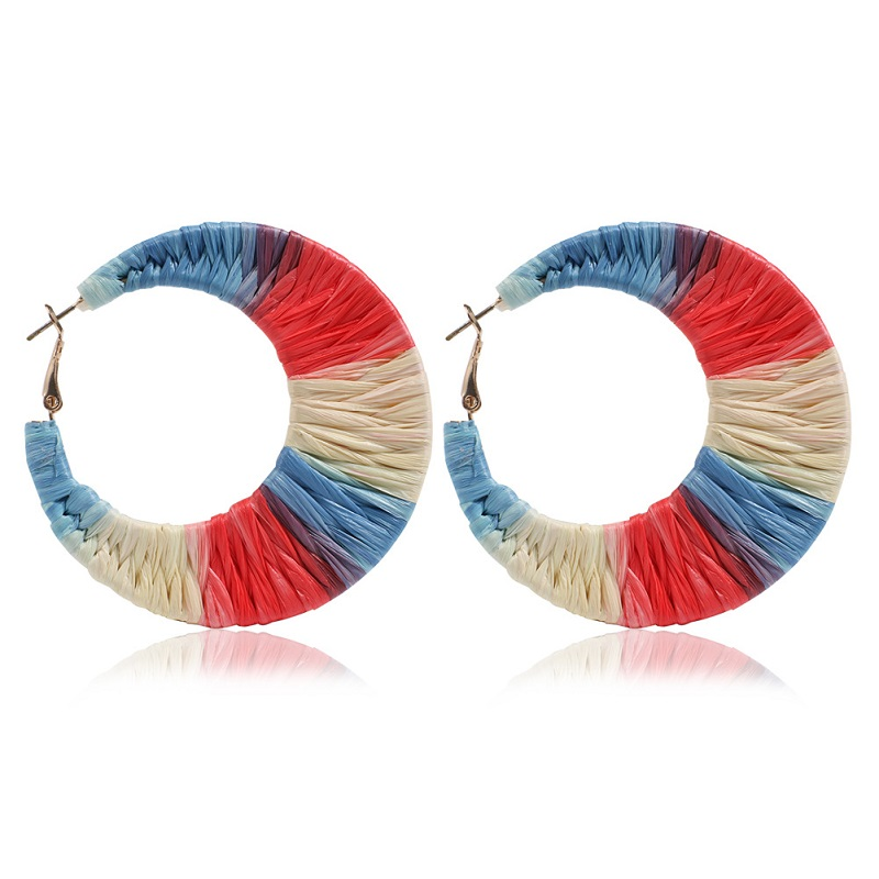 2019 New Colour-impact spliced Earrings for Women Round oval texture texture of baking lacquer Ball Earrings