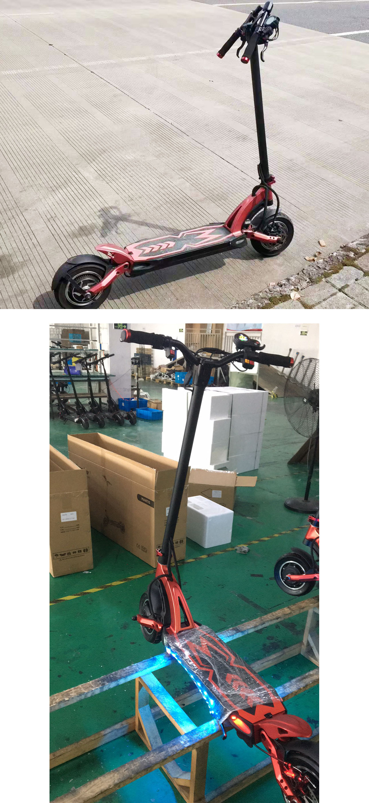 Original Kaabo Mantis 60 V 17.5ah แบตเตอรี่ลิเธียมพับได้ MINI ไฟฟ้า BIKE Scooter