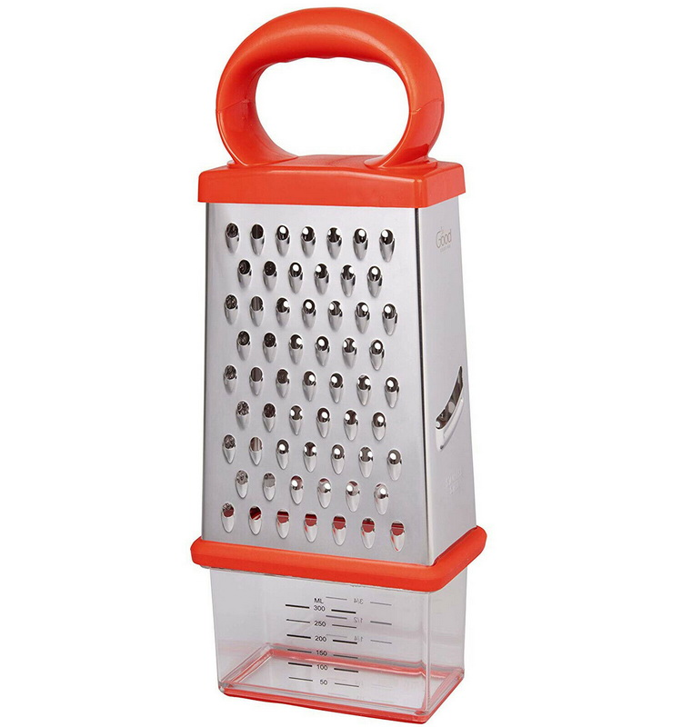 4 Sided Hand Shredder Vegetable Slicer Storage Containers Cheese Grater Box