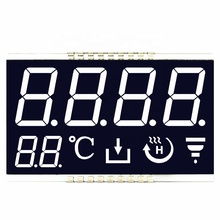 Custom Size Numeriek <span class=keywords><strong>7</strong></span> <span class=keywords><strong>Segment</strong></span> Lcd Display Wit Op Zwart Lcd Voor Thermostaat