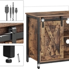 Adjustable Height [ Rustic Stand ] Rustic Tv Stand Hot Sale Rustic Center Console TV Cabinet 75 Inches TV Stand Furniture With Sliding Barn Doors Media Adjustable Shelf