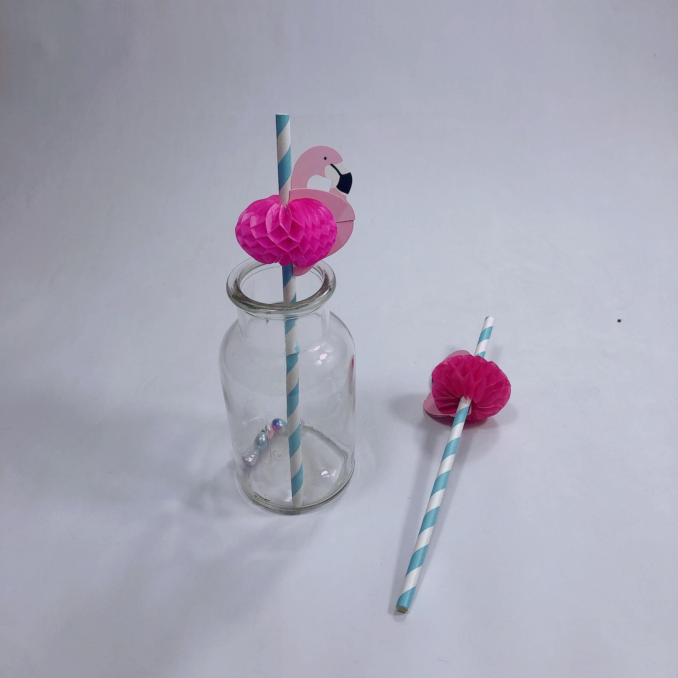 Flamingo Papier Stroh Dekorationen Einweg Cocktail Trinken Stroh