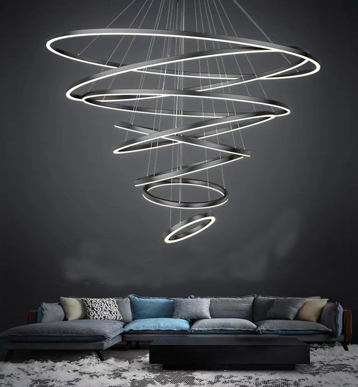 100w led ring chandelier for living room pendant light