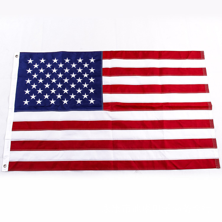 2019 Huiyi In Stock Embroidered American <strong>Flag</strong>,Advertising Custom <strong>Flags</strong>