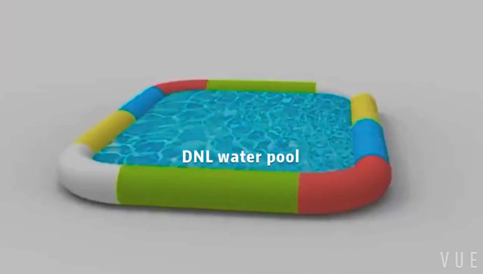Fabrik Direkt aufblasbare quadrat schwimmbad mit hoher qualität und besten preis