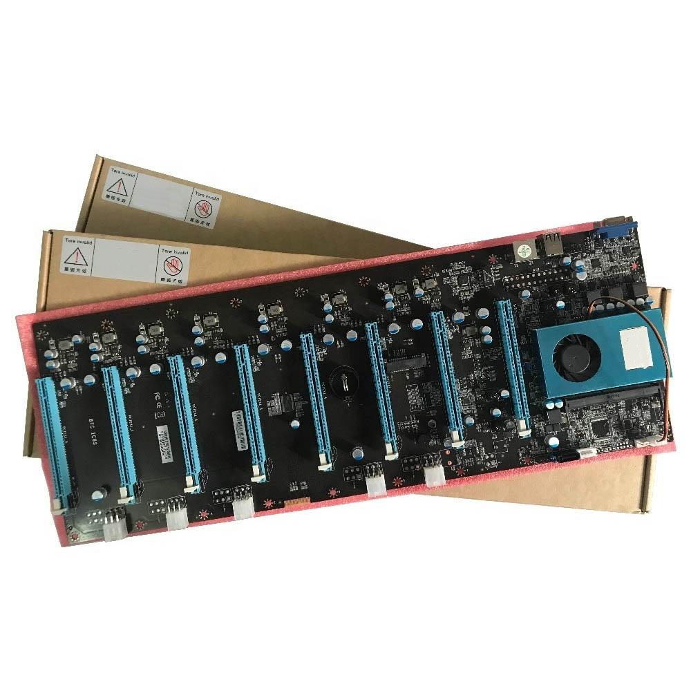 Mining Machine Systems B8PLUS BTC IC6S 8 PCIe Slot Mining Motherboard 4GB DDR4 M.2 60G SSD VGA Board