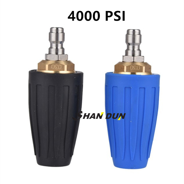 """Rotary tool Spray Nozzle 3600 PSI 1//4/"""" Quick Connect Part Black 360 Degree"""