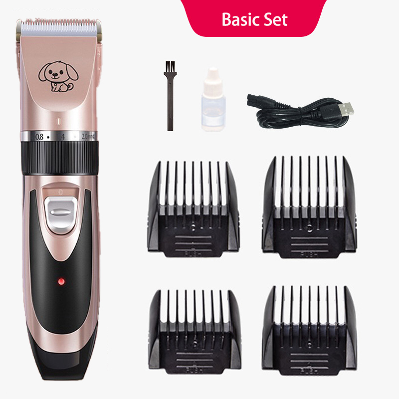 2019 Rechargeable Low-noise Pet Hair Scissors Remover <strong>Cutter</strong> Grooming Cat <strong>Dog</strong> Hair Trimmer Electrical Pets Hair Cut Machine