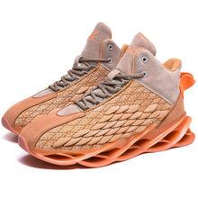 Мужская флуоресцентная амортизирующая спортивная обувь с высоким берцем, дышащая износостойкая повседневная обувь, Zapatos Hombre basketball(Китай)