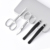 Set 4 Stainless Steel MakeUp Scissor Set Eyebrow Grooming Kit Eyebrow Scissor Eyebrow Tweezer Kit With Metal Box Packaging