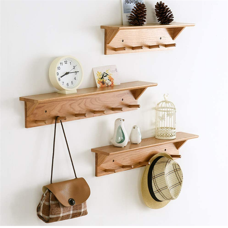 Smooth delicate surface simple storage display stand shelf wood hat display stand