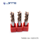 4 flutes square flat milling cutting tools HRC58 end mill cutter for metal