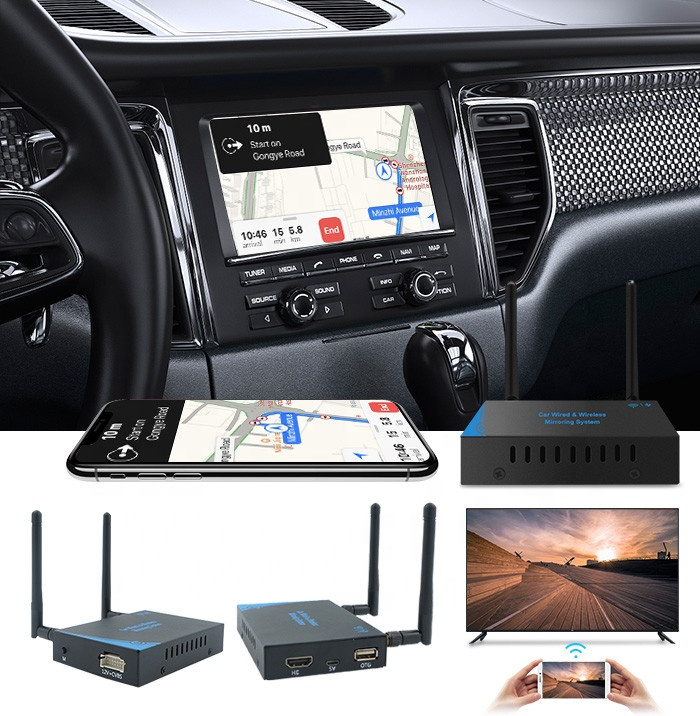 Car wifi display 5G mirror link box for IOS airplay Android Miracast system iPhone USB Connection Mirroring