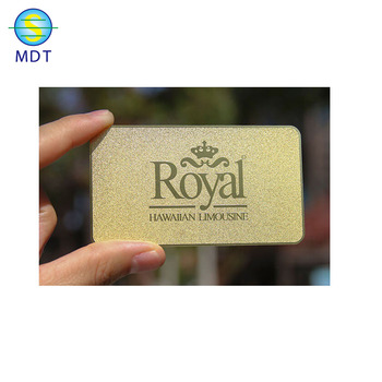 MDT stainless steel playing card etaching and printing business cards