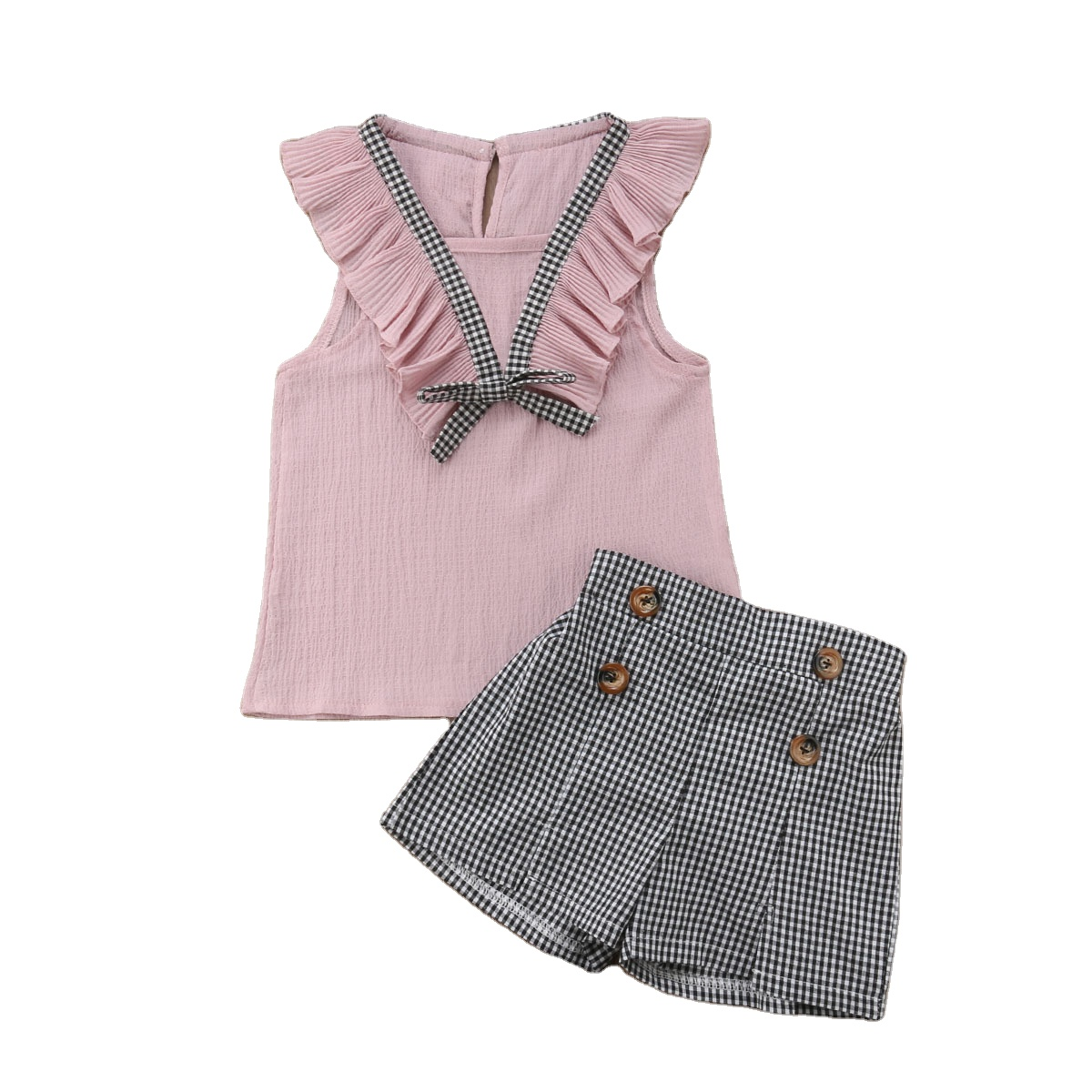 Conjunto De Ropa De Verano Para Ninas Chaleco Pantalones Cortos A Cuadros Trajes Para Ninas De 6 7 10 11 12 Y 14 Anos 2 Uds 2020 Buy Kids Wears Girls Children S Clothing Baby Girl Clothes Sets Product On