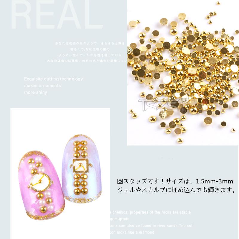 TSZS hot sale half studs 1.5-3mm mix 3styles 2020 nail art decoration pearl resin stone metal jewelry