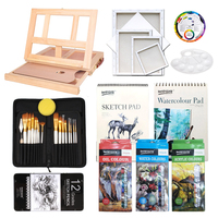 Worison Art Supply 72pc Deluxe Artist Painting Set with Aluminum and Wood Easels for Paint and Accessories