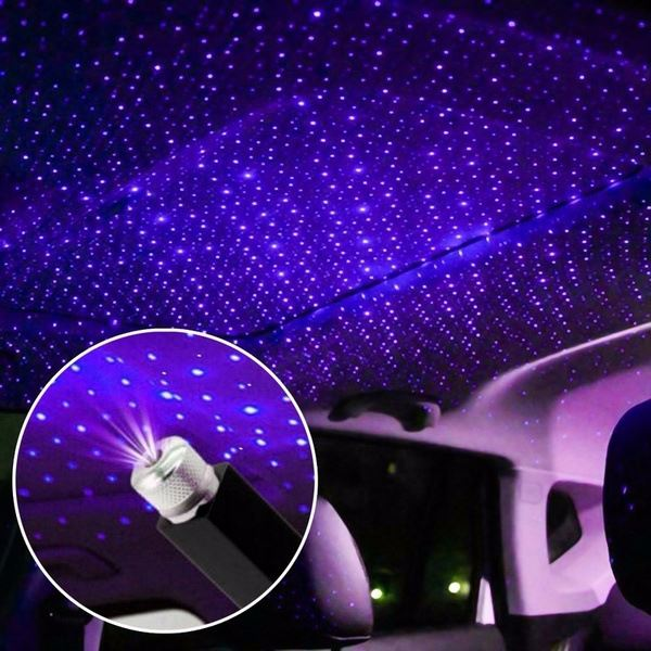 Starry USB Car Projector Lens Led Light Neon Ambient Auto Atmosphere Lights Car Roof Interior Star Light Car Lamp