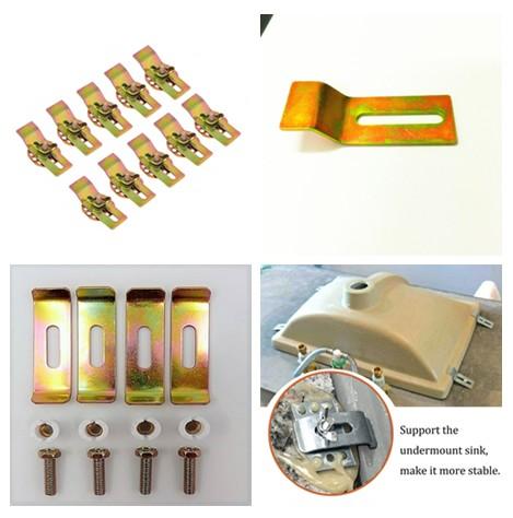 Quartz Stone Grainte sink installation clips , undermount sink clips