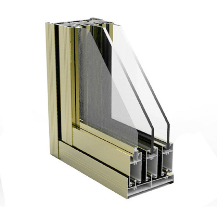 Ladder Structural 20X20 4080 Shutter Balcony Finish Wood Color Aluminium Casement Window Profiles For Sliding Drywall