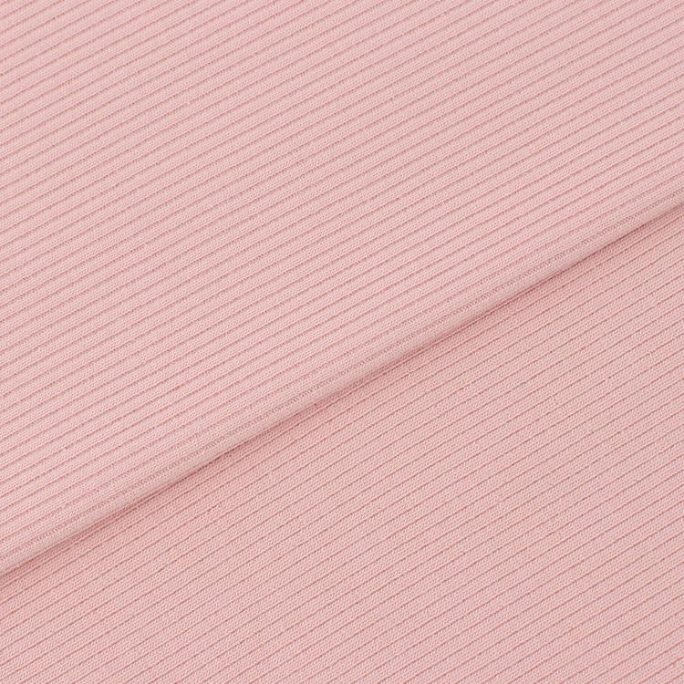 26S 2x2 Cotton Spandex Rib Knit Fabric 260GSM