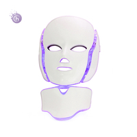 Face care 7 Color LED Photon therapy Mask for Facial and Neck with EMS Microelectronics