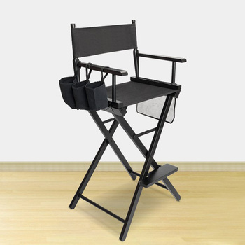 High quality custom wooden foldable professional makeup artist chair, tall director chair, folding make up chair