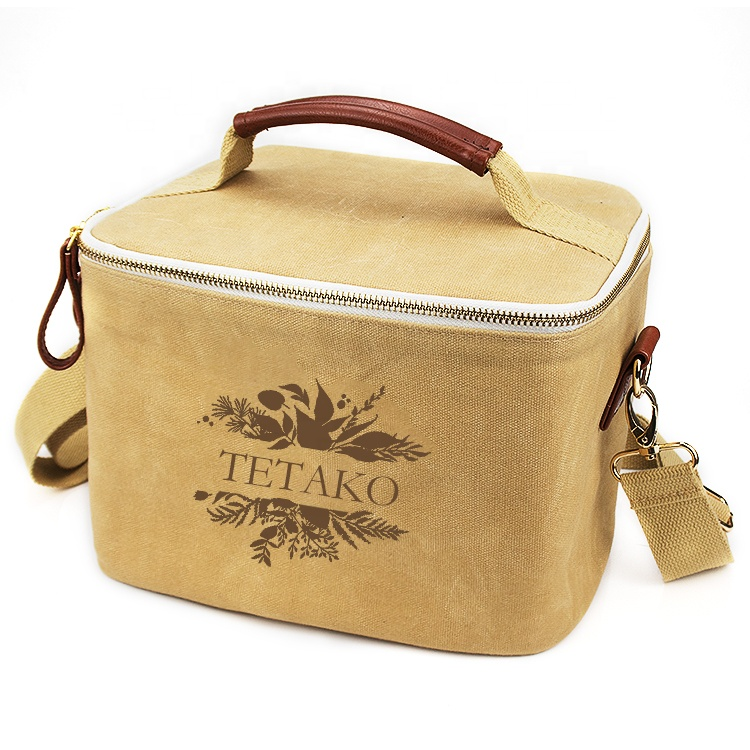 Custom Eco Friendly Portable Girls Food Cooler Box Tote Insulated Women Lunch Bag