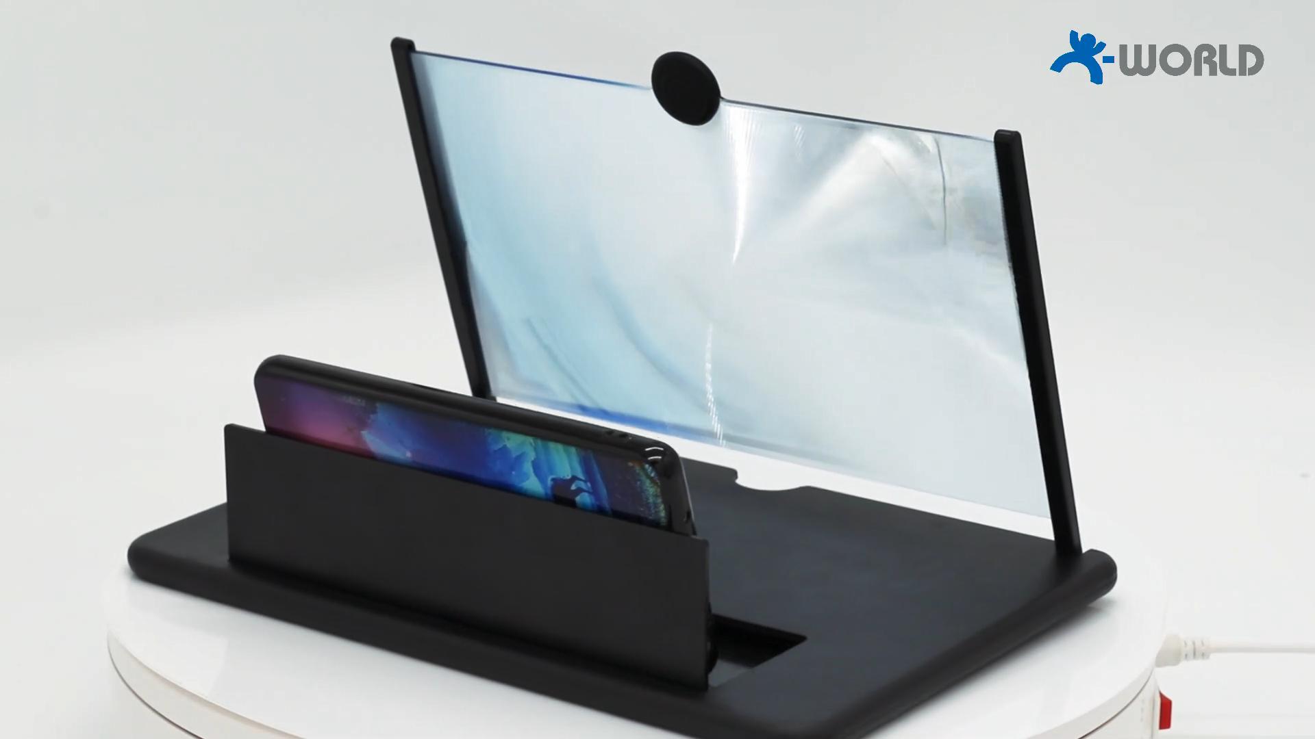 Proyector móvil Universal 3D de 12 pulgadas para películas, vídeos y videojuegos, dispositivo ampliador de pantalla de teléfono
