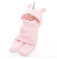 2019 High quantity factory cheap price pink winter flannel baby sleeping bag with legs