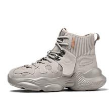 Новинка 2020 года; Модная повседневная обувь; Мужские баскетбольные кроссовки на толстой подошве с высоким берцем; Легкие дышащие удобные кро...(Китай)