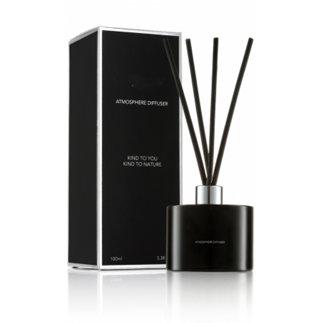 Mescente Luxury Similar Crystal Crafts glass  black home aroma reed diffuser with box