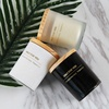 tumbler 4oz 6oz 8oz white empty massage custom clear scented frosted matte amber black glass candle jar with wooden lid and box