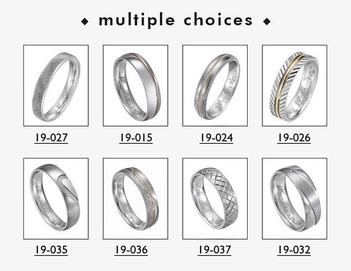 Simple design original gold wedding ring sets titanium metal 24k women copper rings