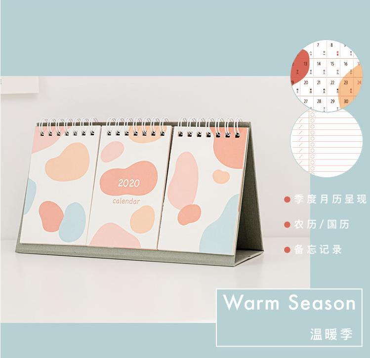 Настольный календарь 2020, простой милый календарь, расписание, украшение, ежедневный ежемесячный планировщик, канцелярские принадлежности, ...(Китай)