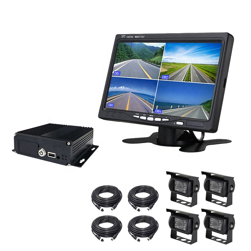 New arrival 2019 1080P 4 channel Mobile <strong>DVR</strong> with 3G 4G WiFi GPS 4ch dual SD card 8 channel MDVR for car school bus truck