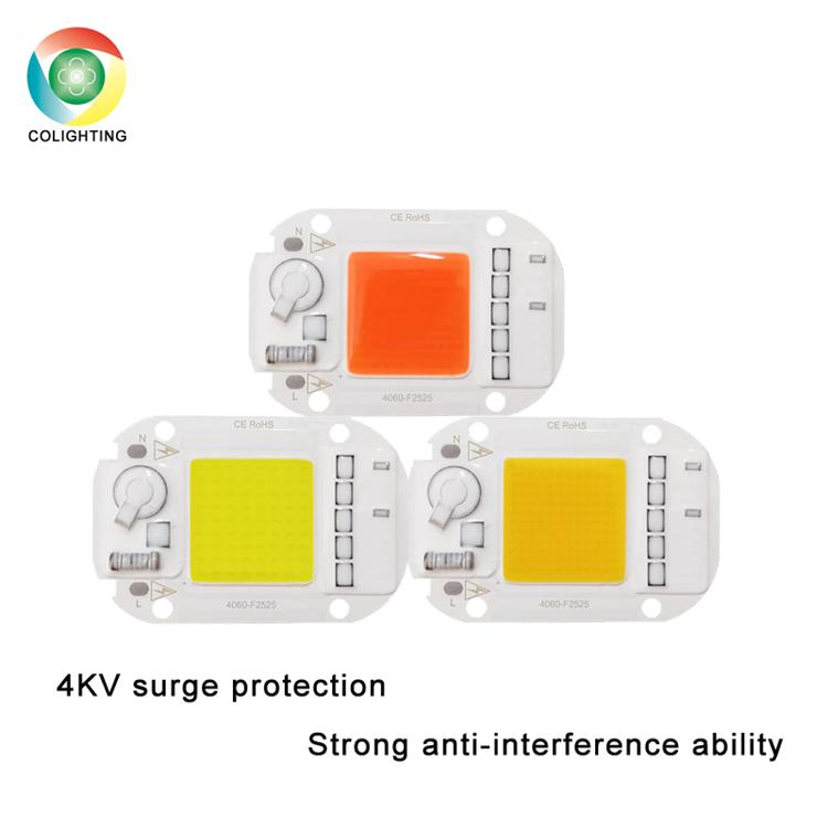 driverless led module 220V 230V 50w COB LED Chip Full Spectrum Plant Growth Light Floodlight indoor outdoor Lamp High PPFD