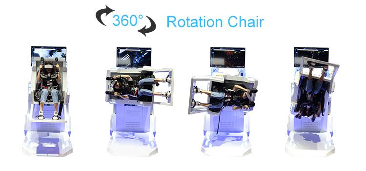 LEKE أحدث إنتاج الواقع الافتراضي السفينة الدوارة مقعد الحركة VR كرسي 360 للملاهي
