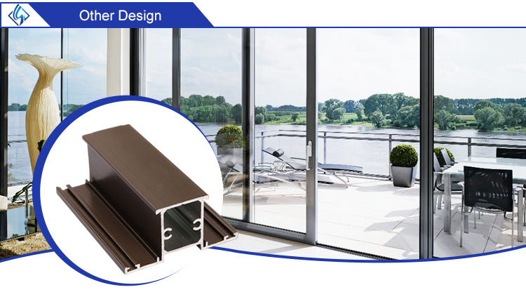6063 Aluminium Alloy Extruded Window Door Frame Profile