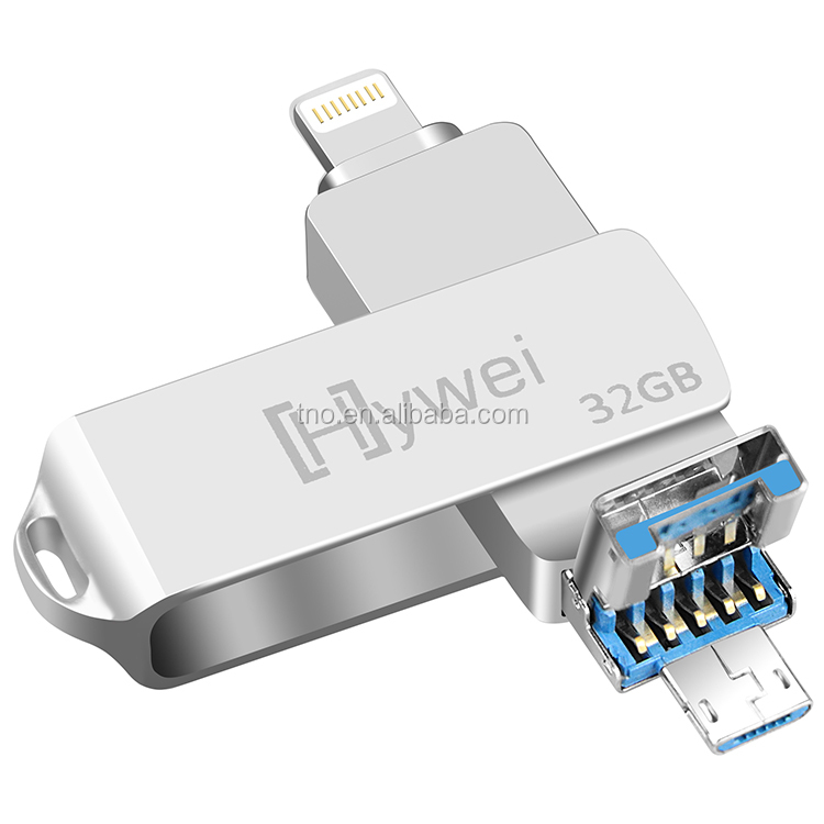 High Speed Swivel 3 in 1OTG <strong>USB</strong> <strong>flash</strong> <strong>drive</strong> 16GB 32GB 64GB 3.0 <strong>OTG</strong> <strong>flash</strong> <strong>drive</strong> <strong>usb</strong> stick for iphone Android PC without any logo