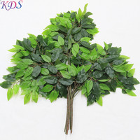 artificial leaves for fake tree decoration leaf for simulation plastic banyan tree leaves