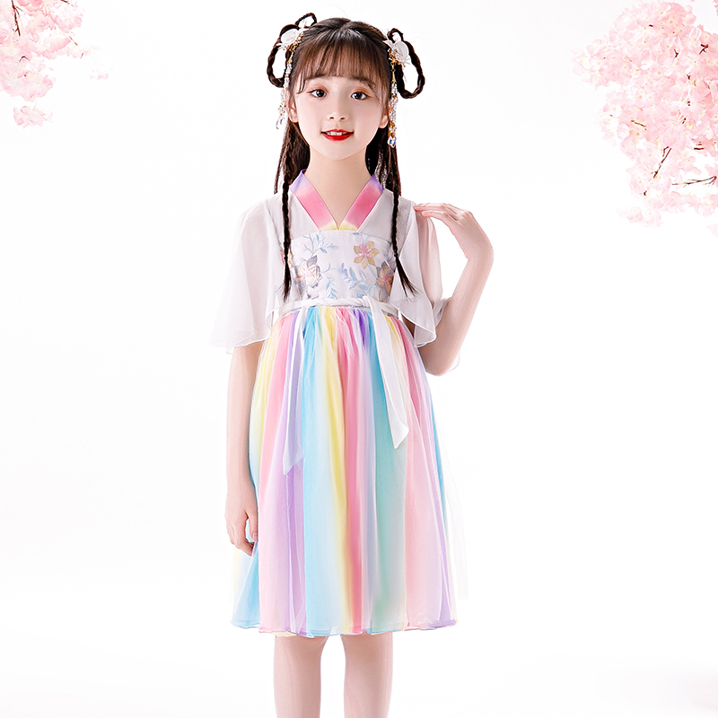 High Quality Fashion Kids Girls  Dresses Baby Girl Chinese Style Dress