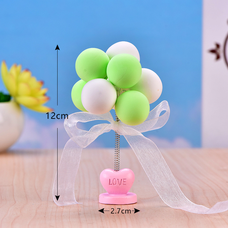 Baking Cake Decoration Color Balloon Resin Crafts Car Decoration Mini Balloon Shooting  Props